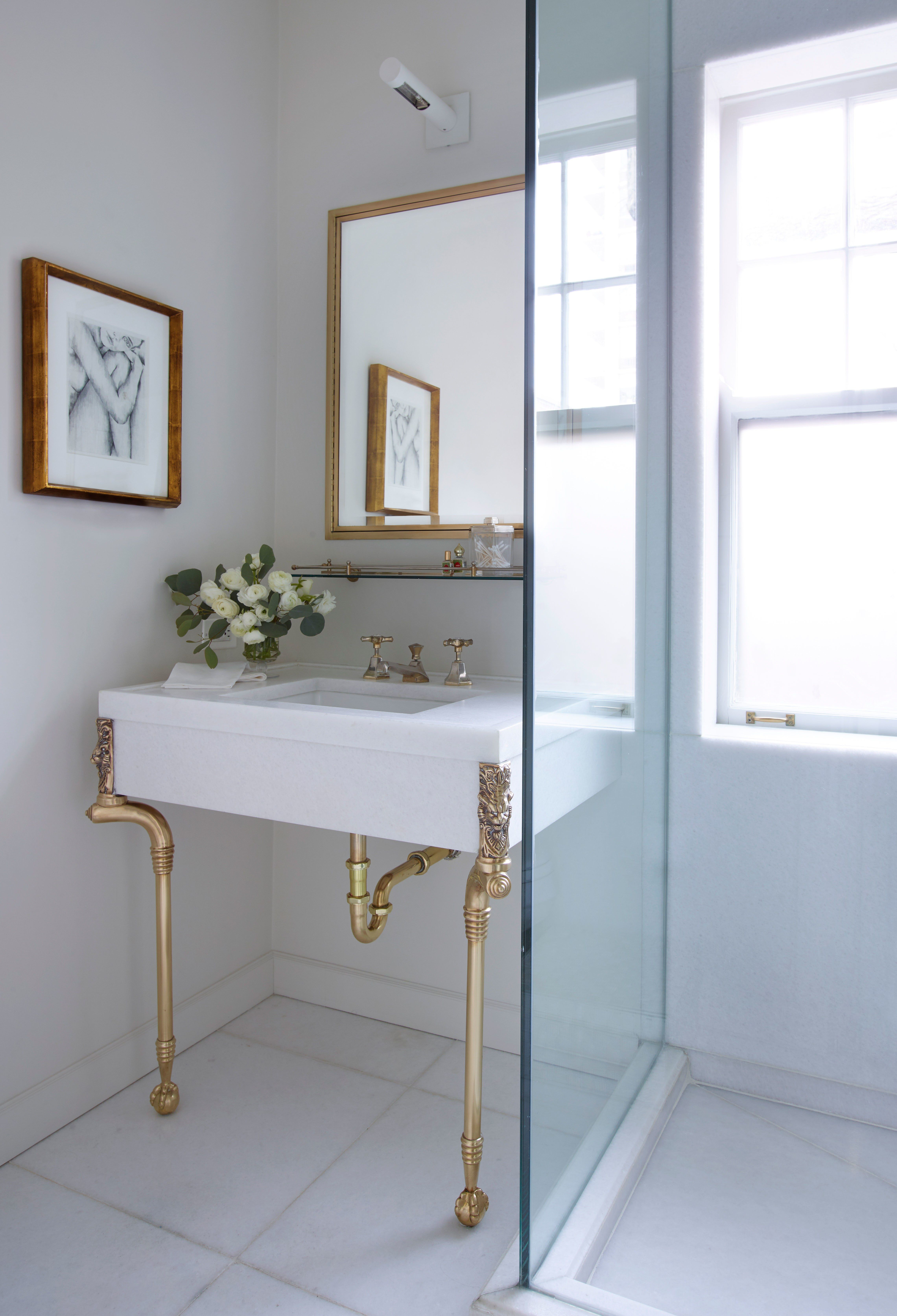 A Chicago Home That Exudes Elegance With A Rock And Roll Edge Glamorous Bathroom Bathroom Decor Cabinet Styles