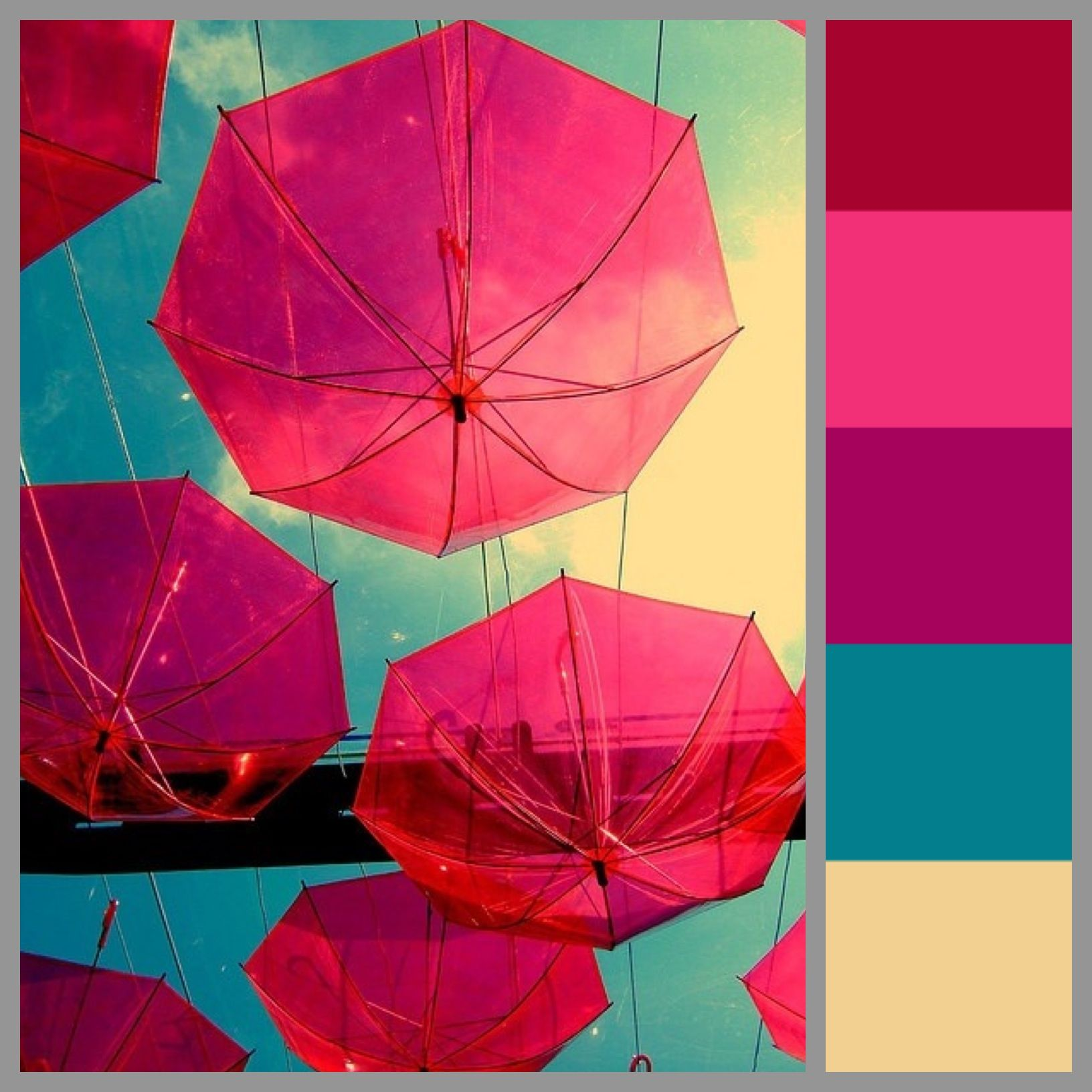 Design Turquoise Color Scheme color scheme bright lively pink fuchsia colorful airy fashion trend blue turquoise