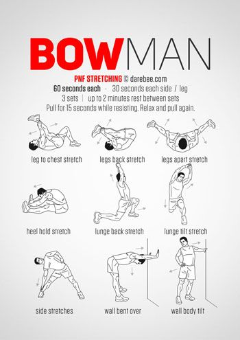 bowman workout …  workout programs pnf stretching exercise