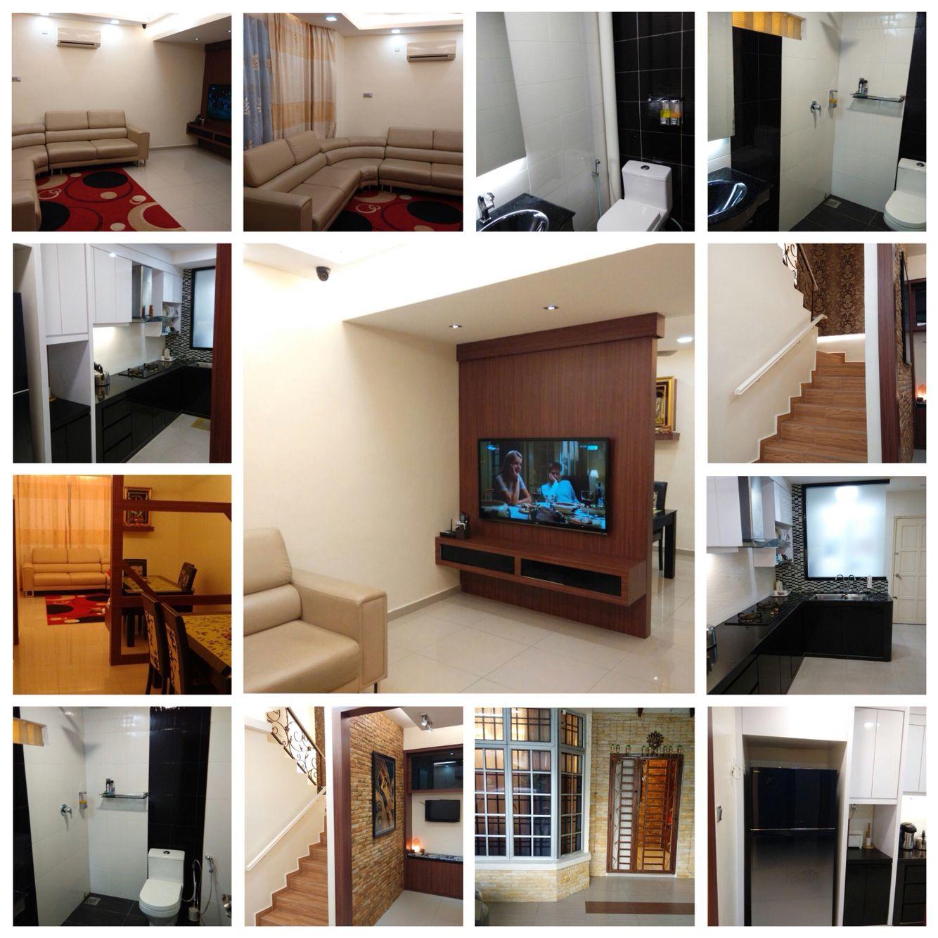 Tmn Scientex Pasir Gudang Dsth 20 70 5 Rooms 1 Store Room 1540 Sqft Fully Renovated Interior Design In Modern Conc Living Hall Bathroom Renos Interior Design