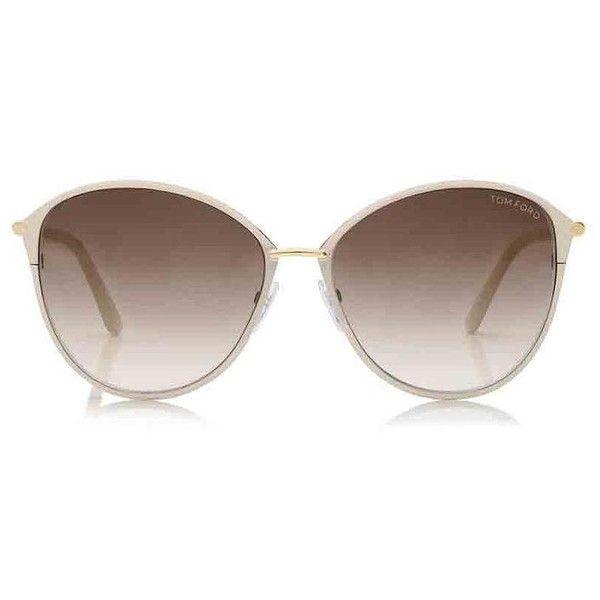 480e810143 Tom Ford White New Penelope Oversized Sunglasses Tradesy (€8