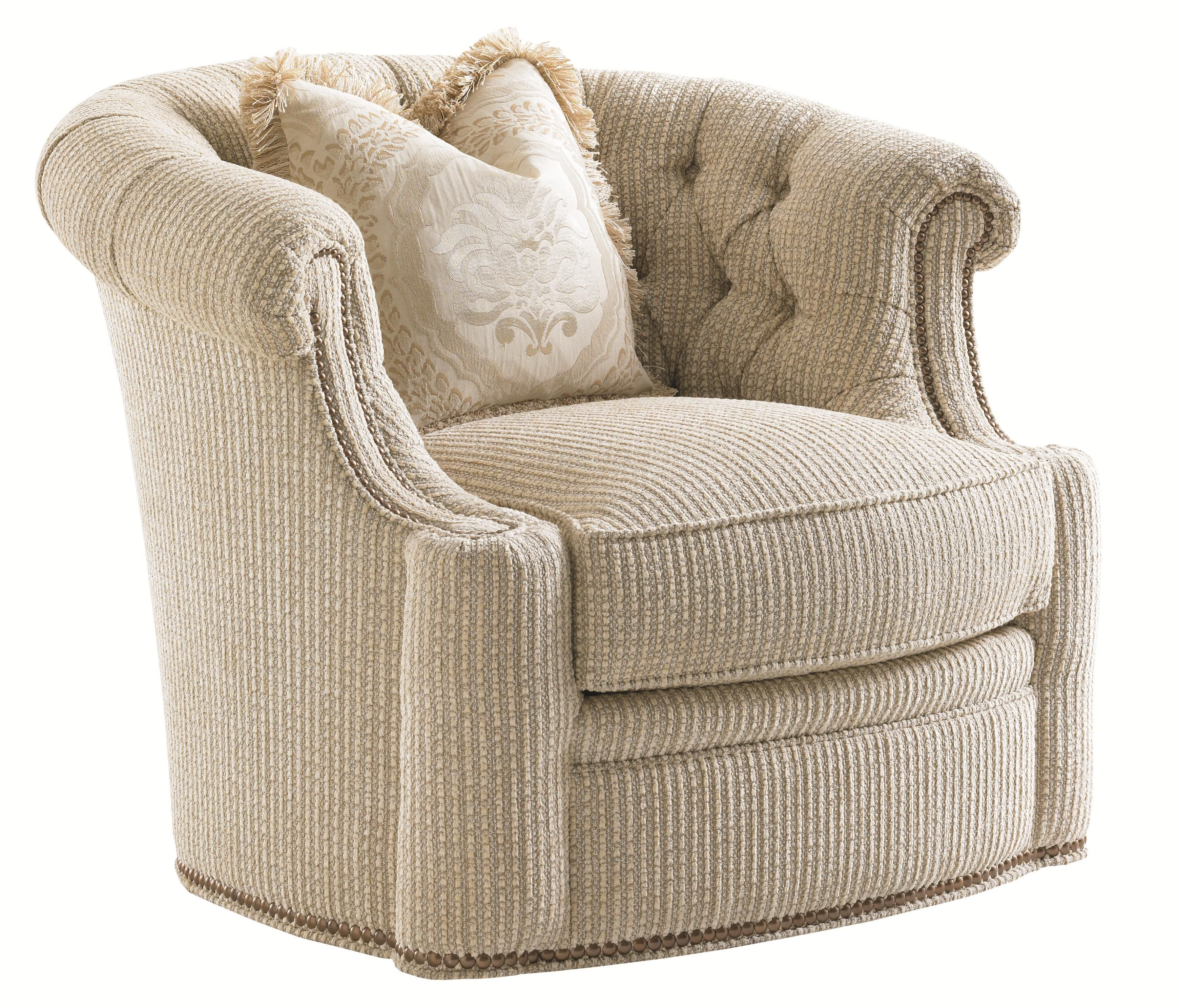 Florentino Feroni Swivel Tub Chair With Tufted Back And