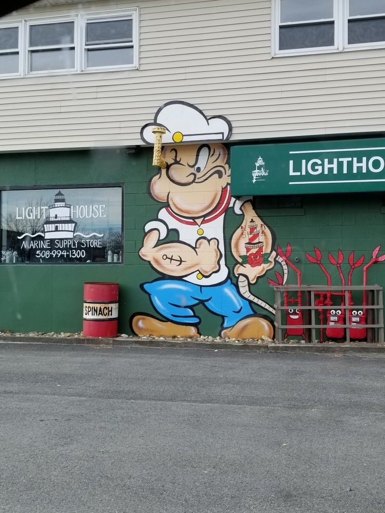 New Bedford Massachusetts Graffiti Popeye The Sailor Man Mural On Herman Melville Blvd Waterfront Are Graffiti Wall Art Popeye The Sailor Man Graffiti Drawing