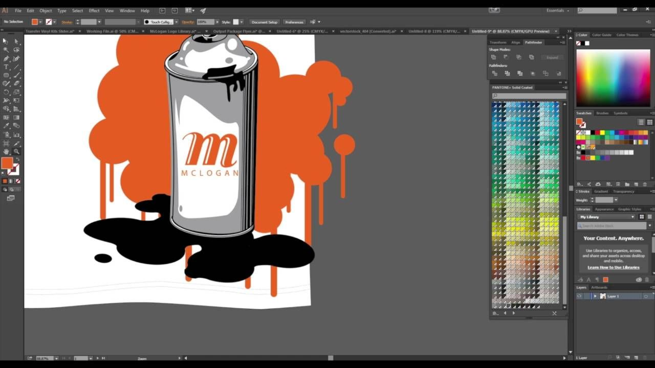 screen printing how to spot color separation using adobe illustrator colour prints pantone warm gray 2 c fhip110n