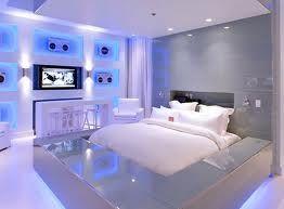 Cool Neon Blue Bedroom
