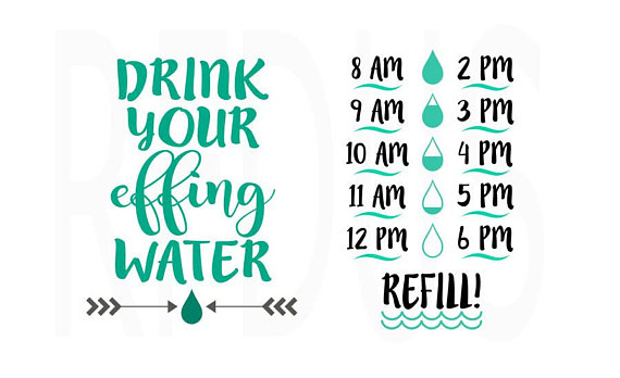 bad7e564a1 Drink your effing water svg, Drink up buttercup svg, water bottle ...