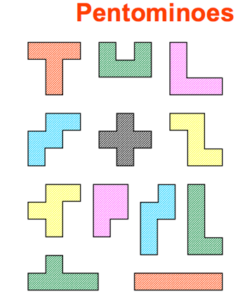 image relating to Pentominoes Printable called Pin upon Higher education / Math / Designs
