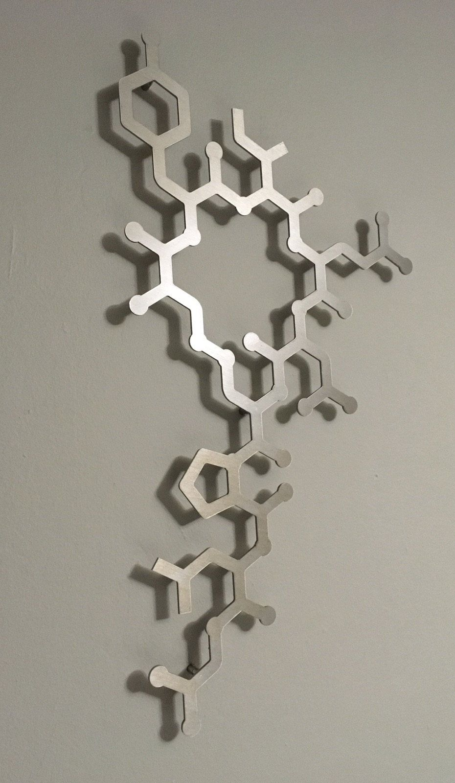 Oxytocin Molecule 3d Metal Wall Art Sculpture By Arte Metal Visit Us At Www Arteandmetal Com Molecule Art Wall Sculpture Art 3d Metal Wall Art