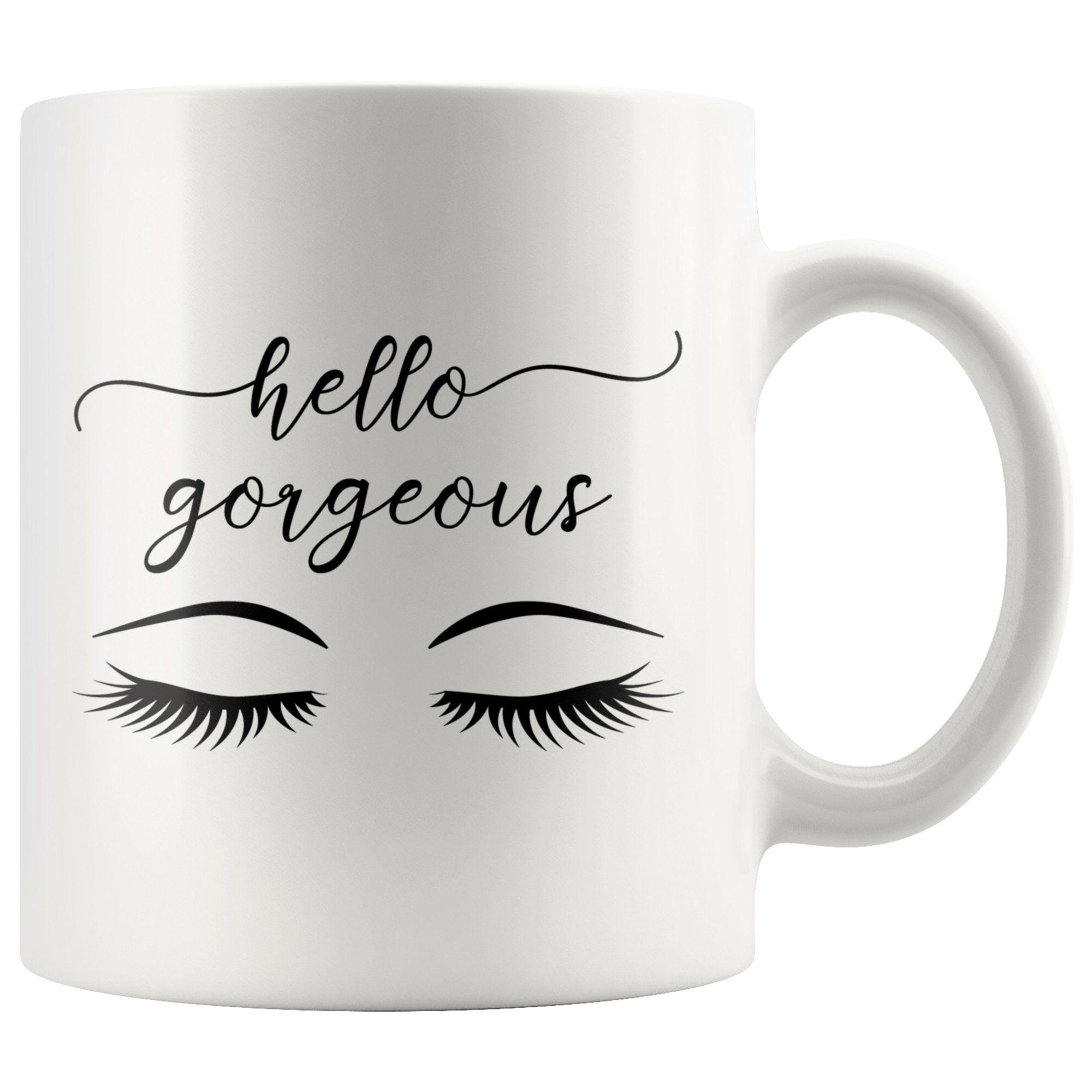 Hello Gorgeous Mug Gold Coffee Mug Romantic Gift For Wife Hello