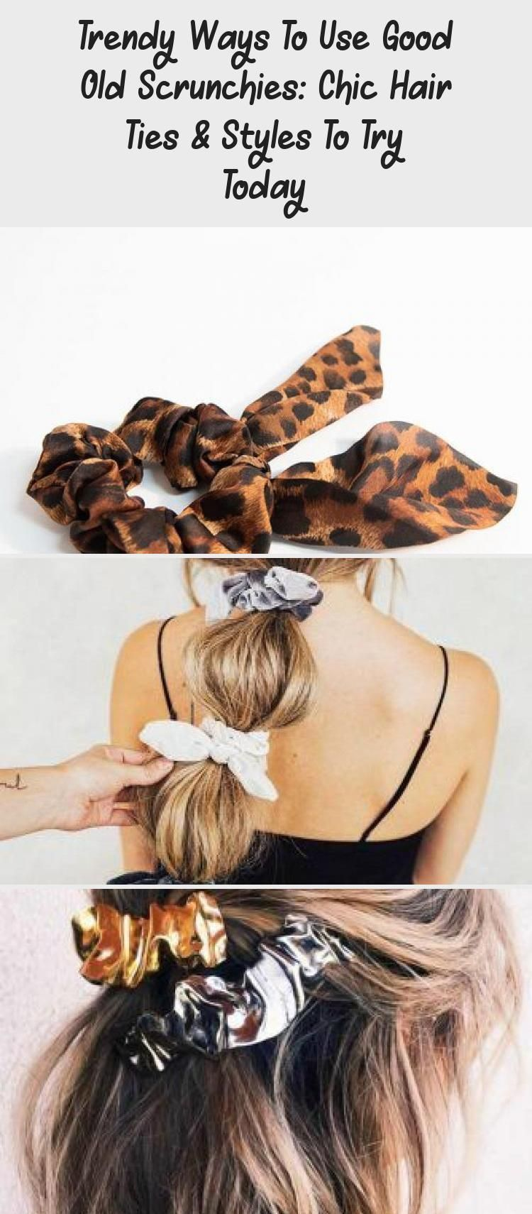 Trendy Ways To Use Good Old Scrunchies Chic Hair Ties Styles To Try Today In 2020 Hair Styles Boho Hair Tutorial Hair Videos Tutorials