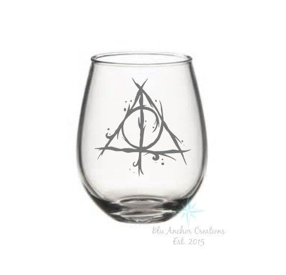 Harry Potter Wine Glass Harry Potter Always by BluAnchorCreations