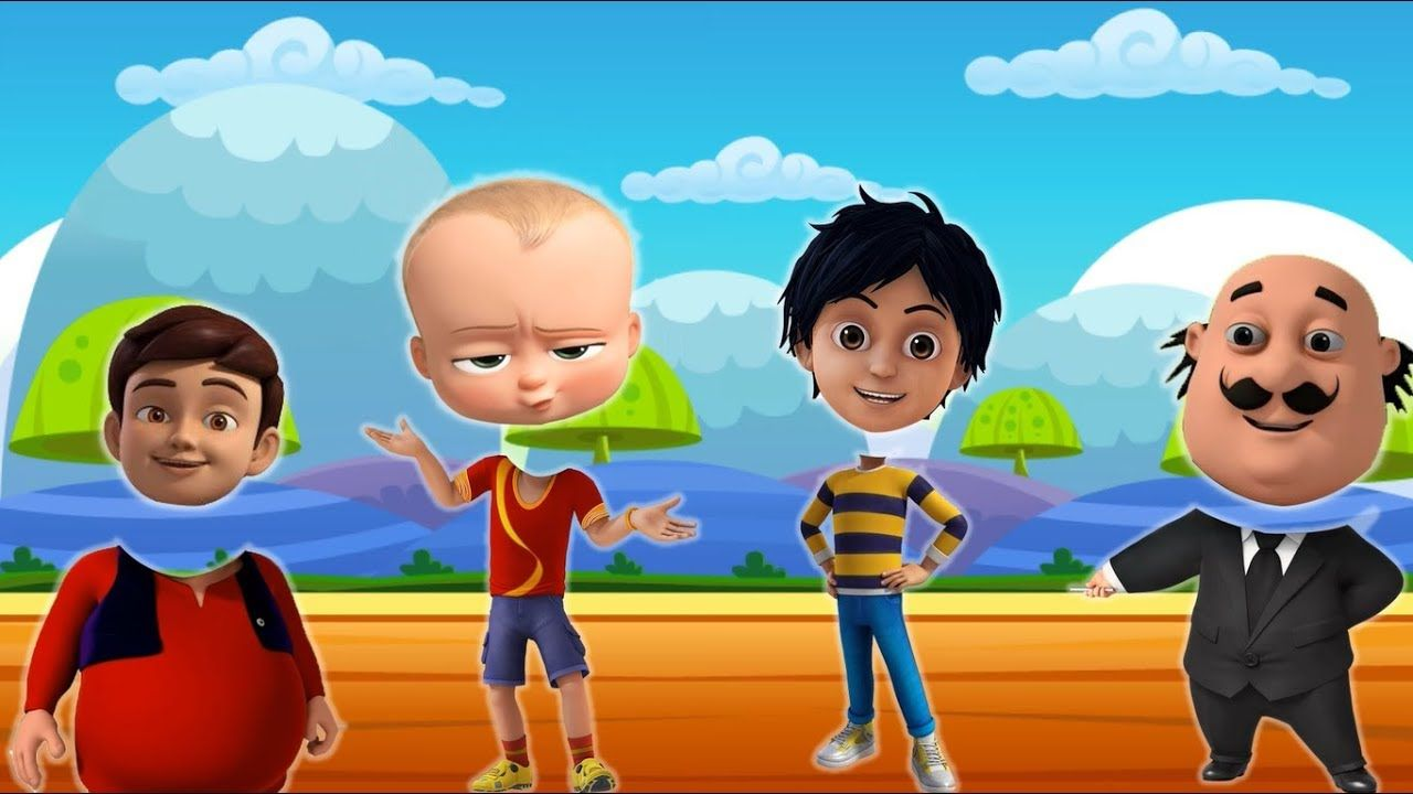 Wrong Head For Kids Shiva Boss Baby Rudro Motu Little Singham