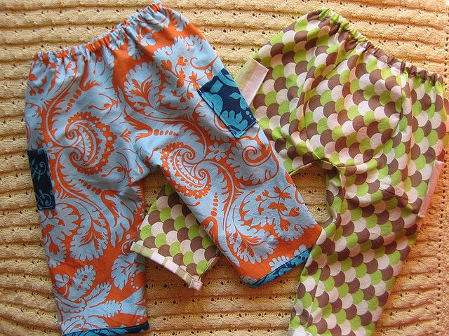 Handmade Baby Pants. I've got to make these!