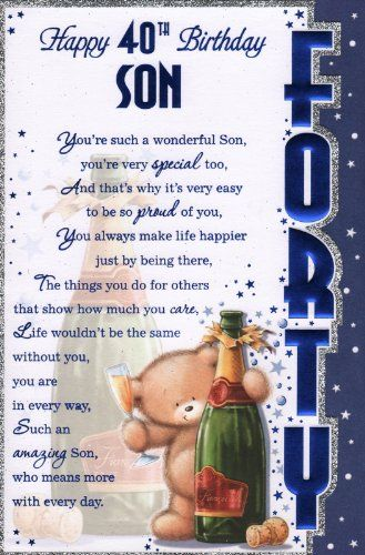 Son Birthday Card Verses Yahoo Image Search Results Printables