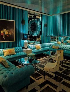 Retro Vibe Cool Lighting From The 60 S Living Room Turquoise Turquoise Living Room Decor Turquoise Room