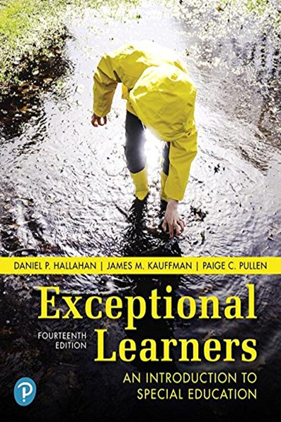 Exceptional Learners An Introduction To Special Education 14th Edition By Daniel P Hallahan Pearson Special Education The Learning Experience Education