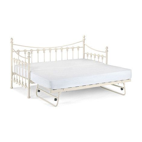 Debenhams Off White Etienne Single Bed Frame With Guest At Mobile