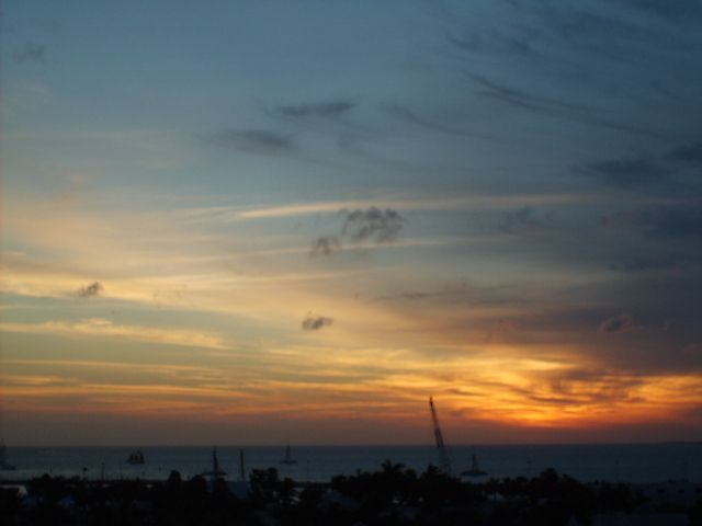 sunset from rooftop bar at La Concha Hotel
