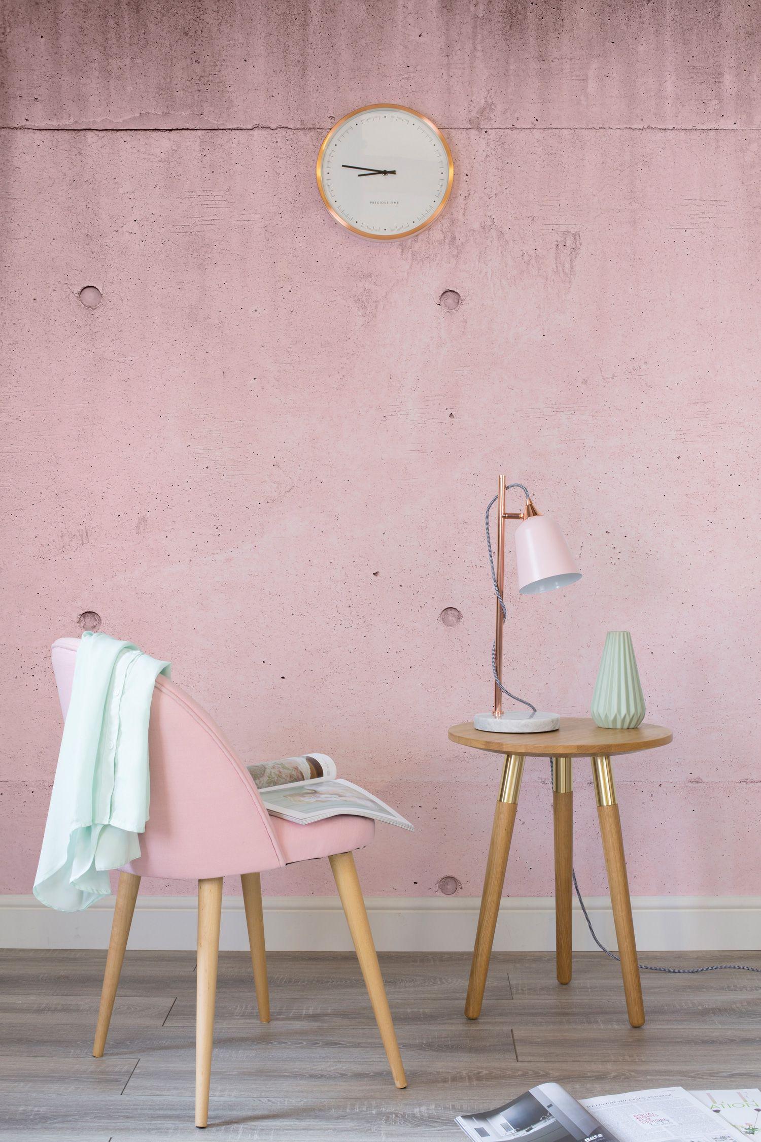 Pink Modern Concrete Block Wallpaper Mural Murals Wallpaper In 2020 Contemporary Wallpaper Living Room Living Room Design Diy Wallpaper Living Room