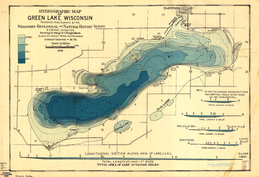 Map of the DayDecember 5Hydrographic Map of Green Lake Map of
