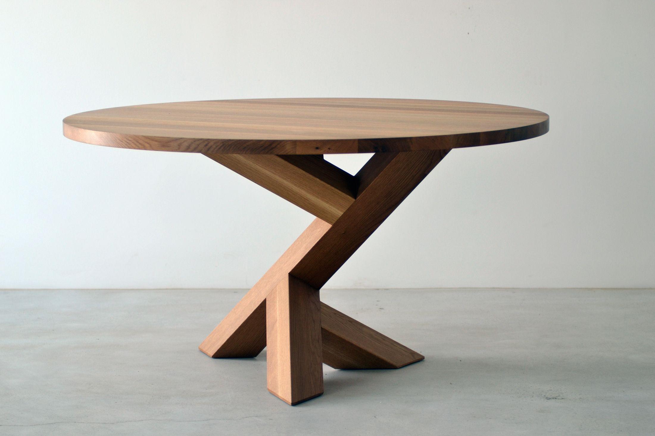 Iconoclast Single Leg Dining Table Wood Table Design Wood Table Legs Diy Table Legs [ 1467 x 2200 Pixel ]