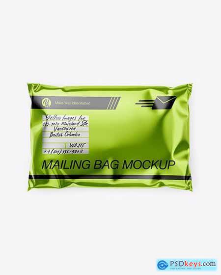Download Metallic Mailing Bag Mockup Top View 54674