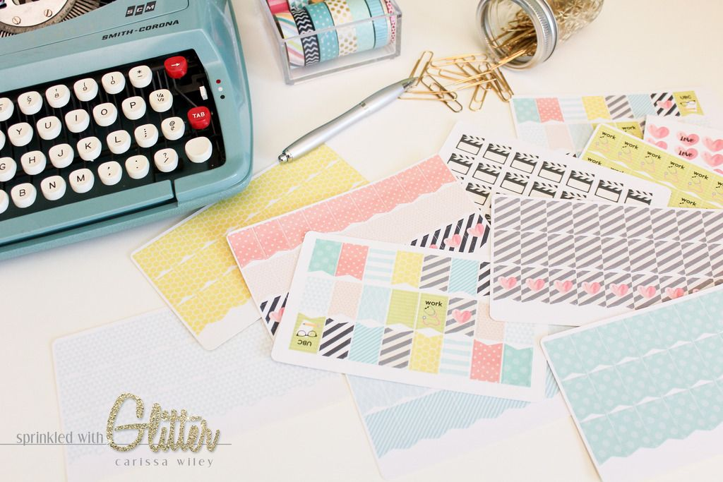 Sprinkled with glitter create your own custom planner stickers silhouette cameo tutorial