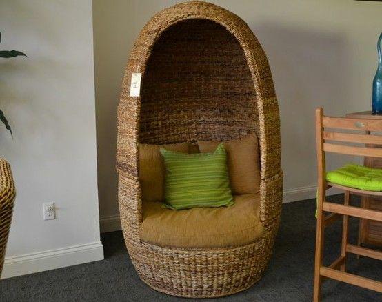 wicker egg chair so unique me  bohemian room decor