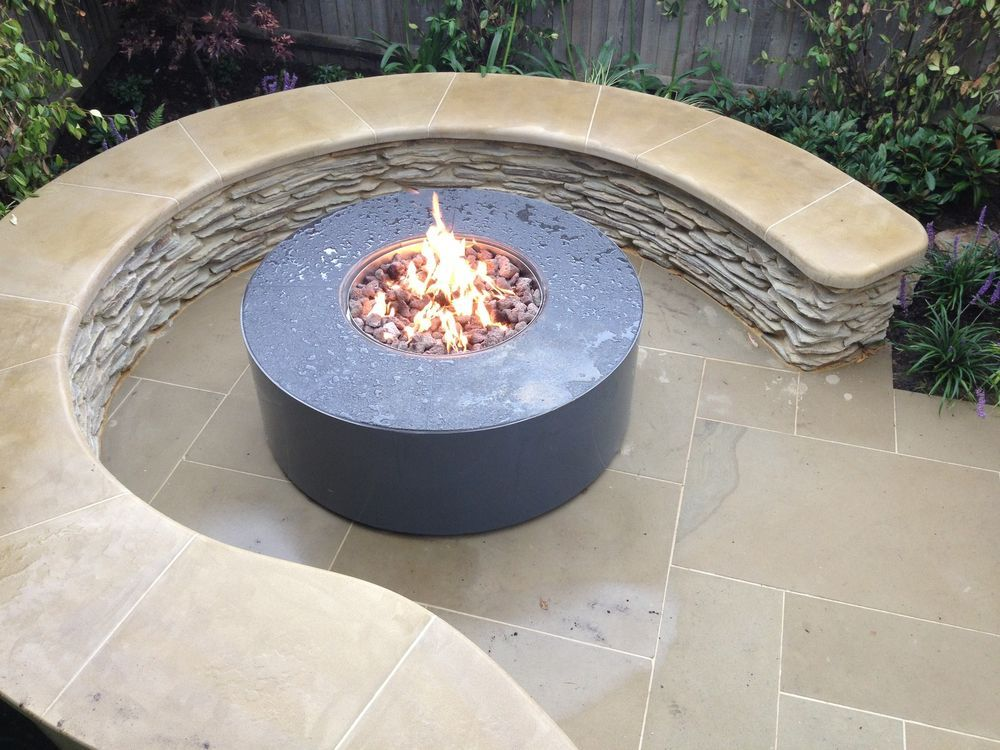 Brightstar Mains Natural Gas Fire Pit Burner Only Round 18kw Patio Heater Uk