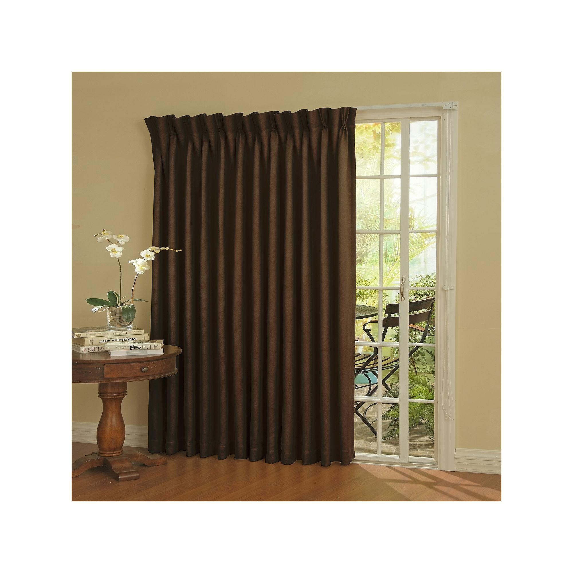 eclipse Blackout Thermaweave Patio Door Curtain Blue