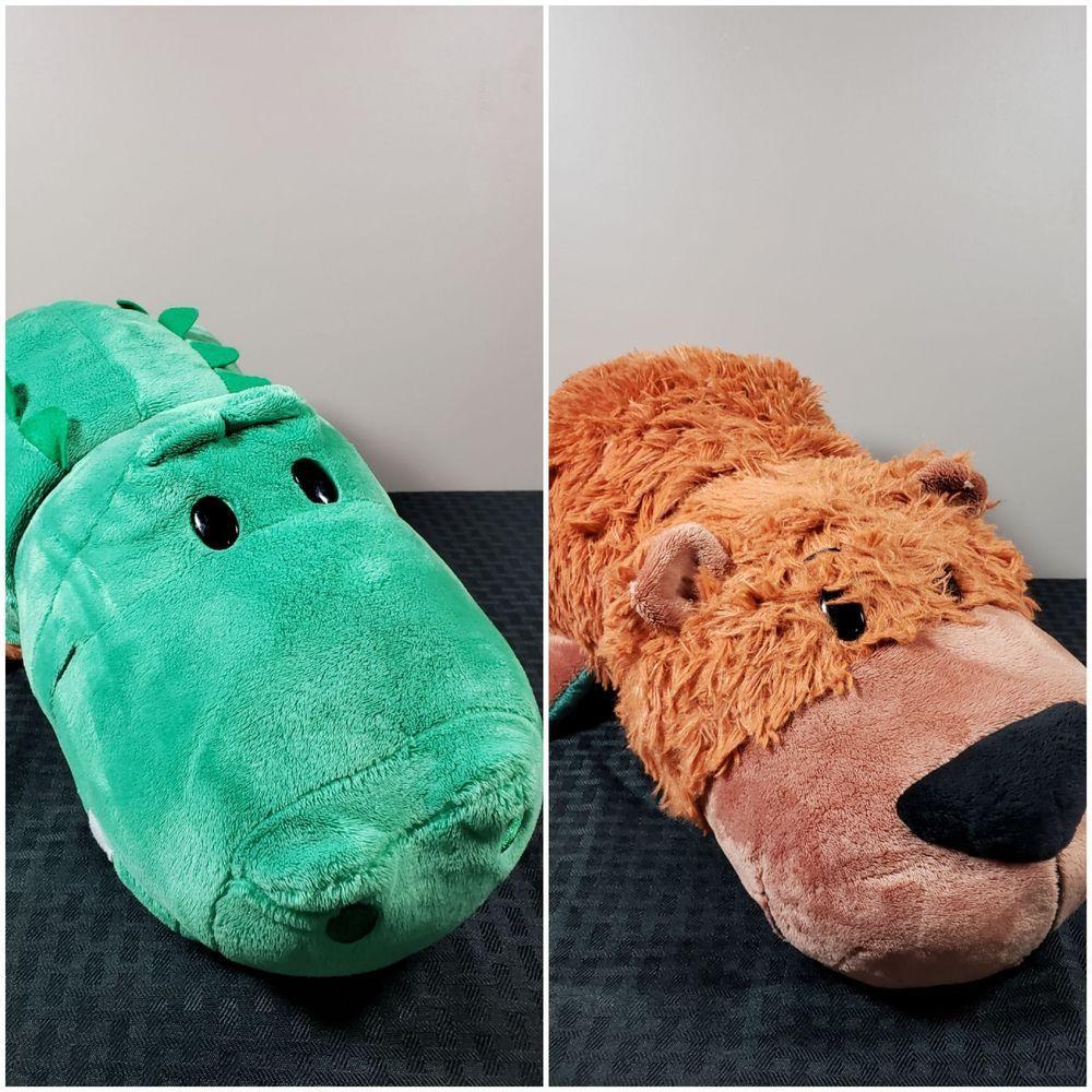 b4d4353597e FlipaZoo Flip A Zoo Plush Stuffed Animal Gorgo Grizzly Bear Axel Alligator   JayPlay