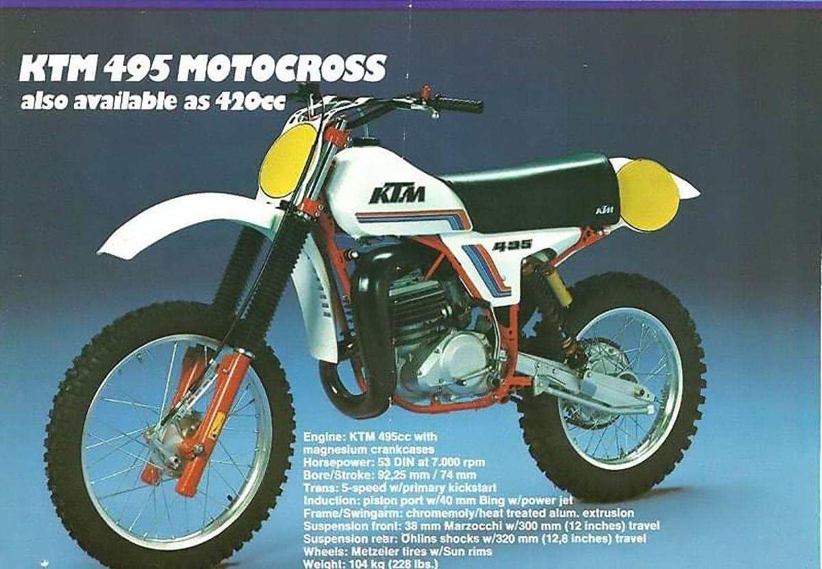 Ktm 495 Ccm Cross Werbung Ktm Vintage Motocross Motocross
