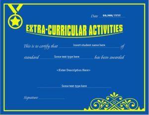 Extracurricular activity award certificate template for ms word extracurricular activity award certificate template for ms word download at httpcertificatesinn yadclub Choice Image