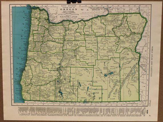 Vintage Oregon Map.Vintage Oregon Map Love God Help Us Pinterest Oregon