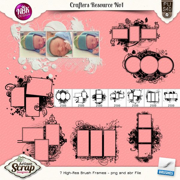 Crafters Resource No1 {Swirly Brush Frames}