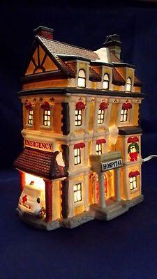 St Nicholas Christmas Village.St Nicholas Square Village Illuminated Hospital Staff Nurse 3rd