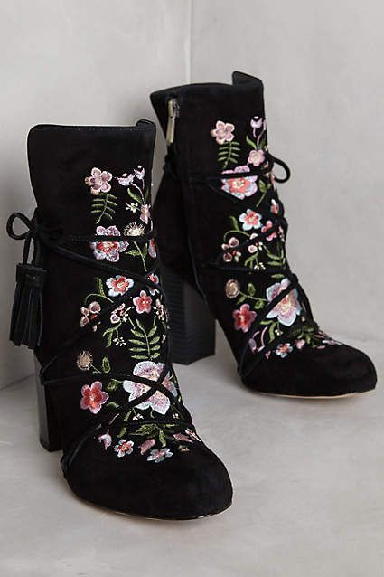 8289591f6 Women s Fashion High Heels   Sam Edelman Winnie Ankle Boots –  anthropologie.com Black embroidery Ankle Boots