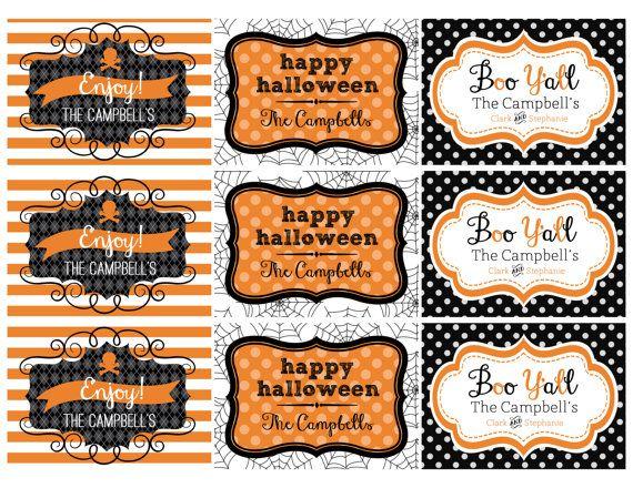 Halloween Printable Gifts Tags Diy Personalized Gift Tags Printable Halloween Tags Gift Tags Diy Halloween Printables