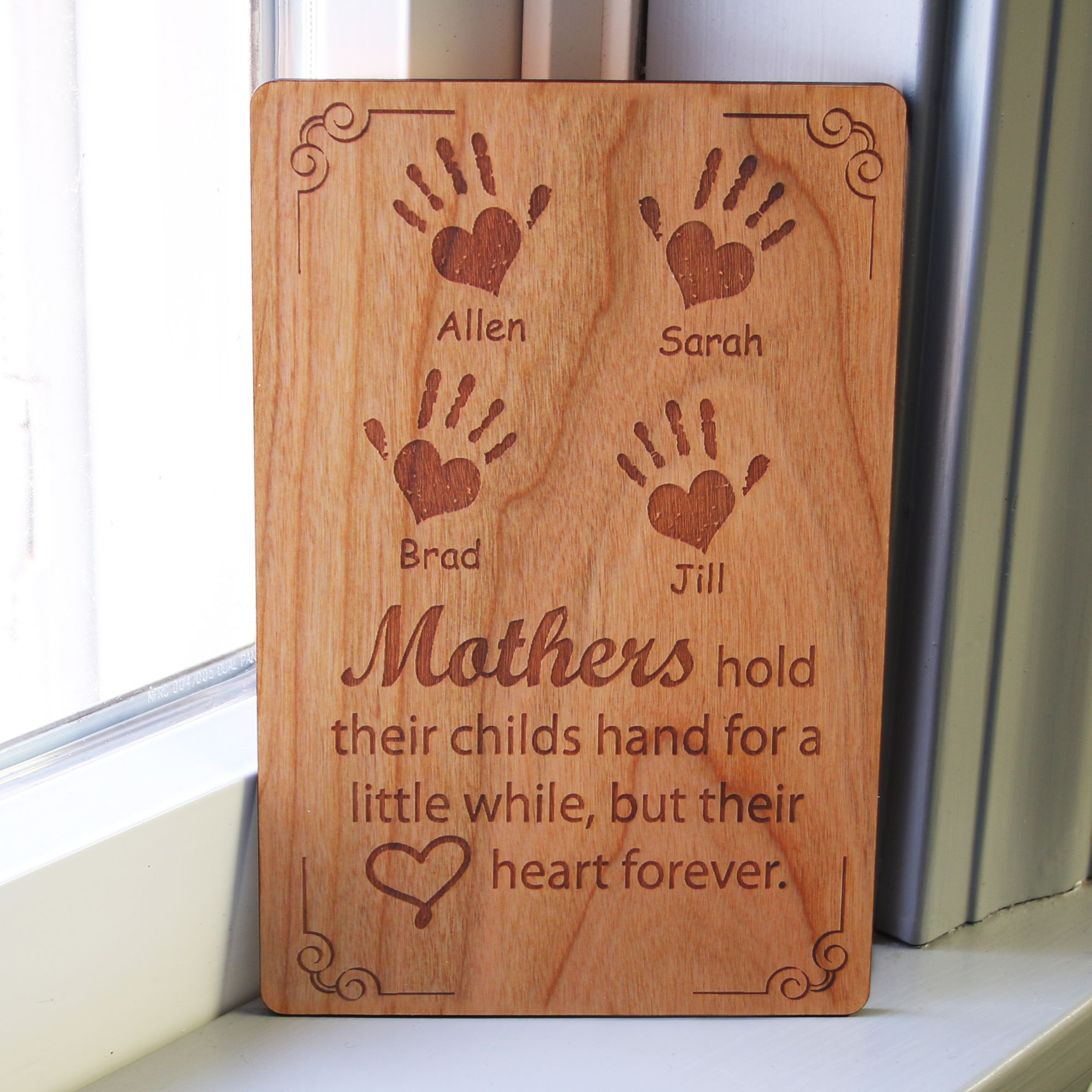 Personalized Rustic Wood Greeting Card Gift for Dad Husband Mom Unique gift card Anniversary gift Your text engraved on aged wood