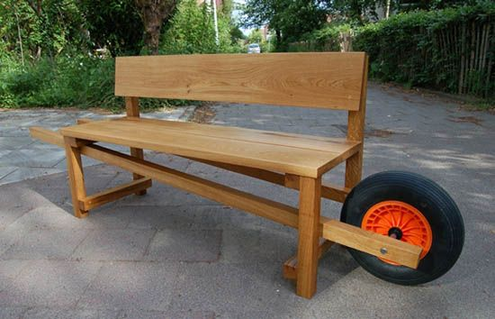 Unique garden furniture Natural Garden Unique Garden Benches Portable Garden Furniture Piece Wooden Bench With The Wheel Pinterest Two Inspiring Design Ideas Unique Diy Garden Decorations Chairs