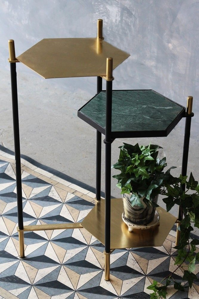 Hexagon Step Side Table From Rockett St George