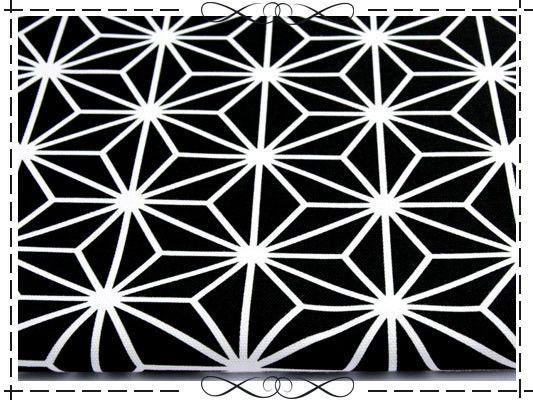 stoff grafische muster baumwolle canvas asanoha hanfbl te schwarz ein designerst ck von. Black Bedroom Furniture Sets. Home Design Ideas