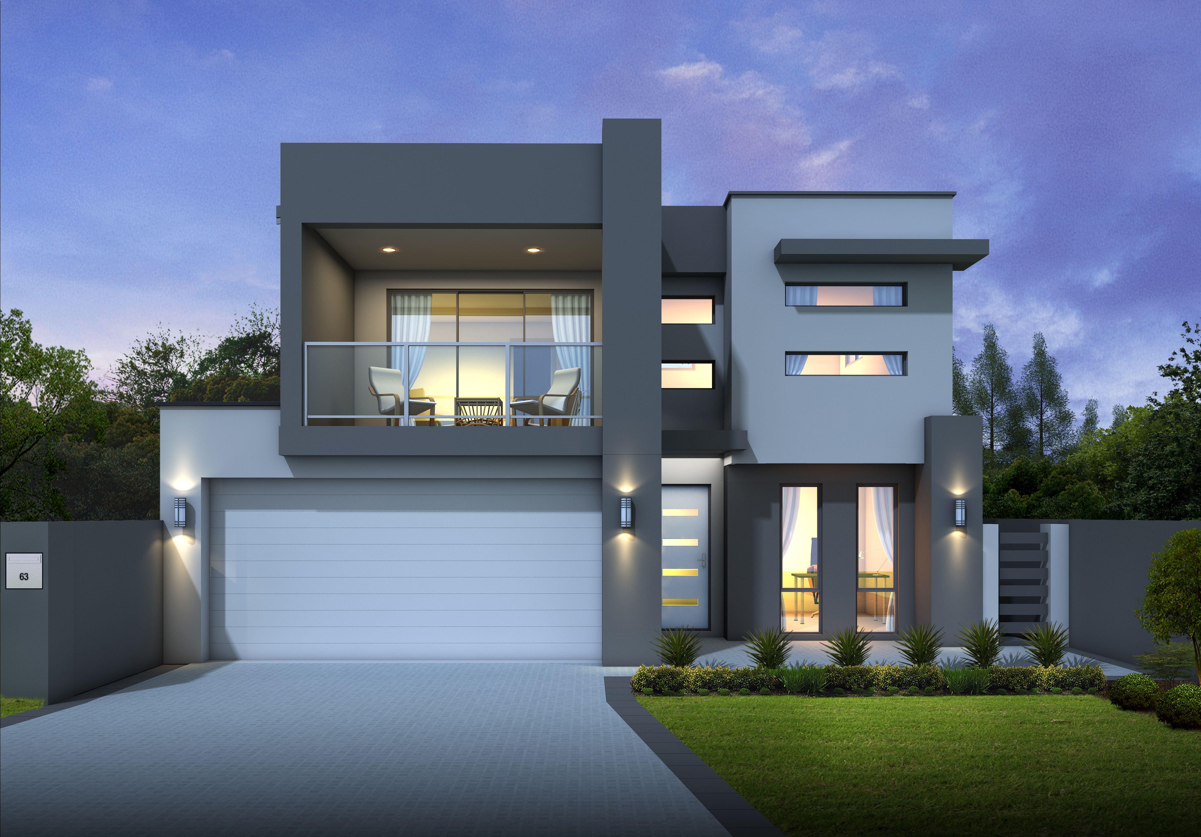 Narrow Lot Design Minimal House Design Storey Homes House Outside Design