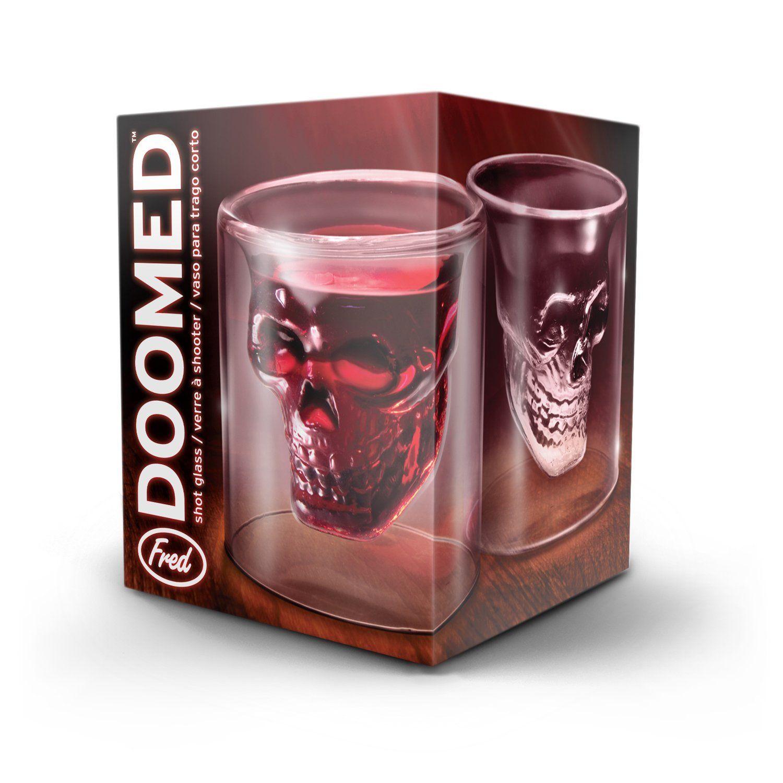 Fred doomed crystal skull shotglass shot
