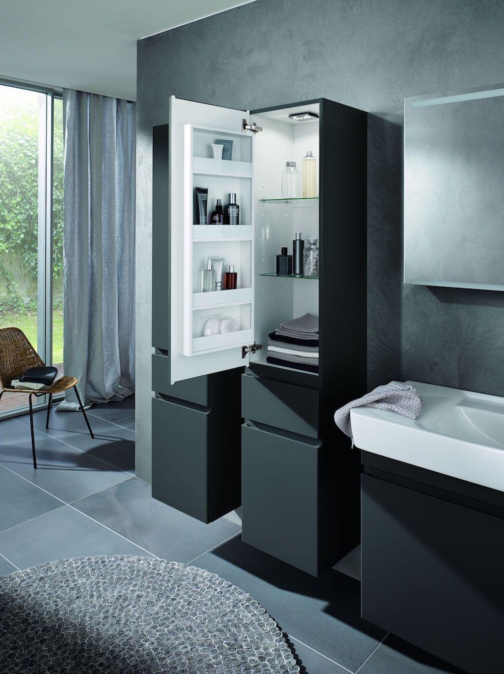 Hoge kast met veel opbergruimte Sphinx 320 badkamermeubel #badkamer ...
