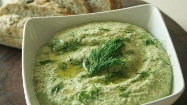 Komkommer Hummus met Dille