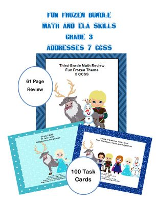 Bundle- 7 CCSS-Math and ELA -Fun Frozen Theme from mccormick33 from ...