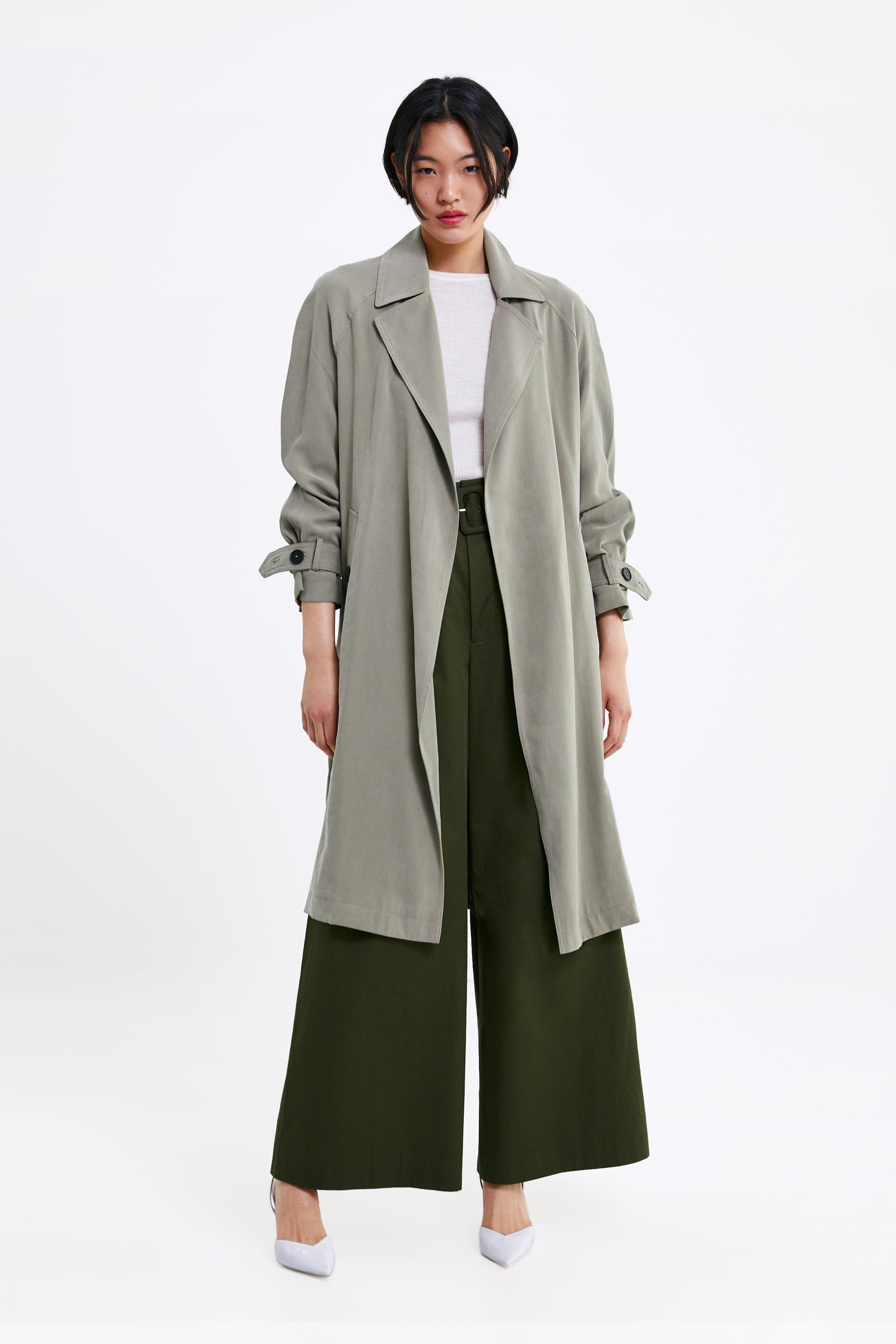 FLOWING TRENCH COAT WITH POCKETS - NEW IN-WOMAN | ZARA United Kingdom | Trench  coat, Coat, Spring coat