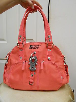 GEORGE GINA & LUCY STYLETTO TOTE BAG HANDBAG PURSE FLAMINGO ROAD NICE!