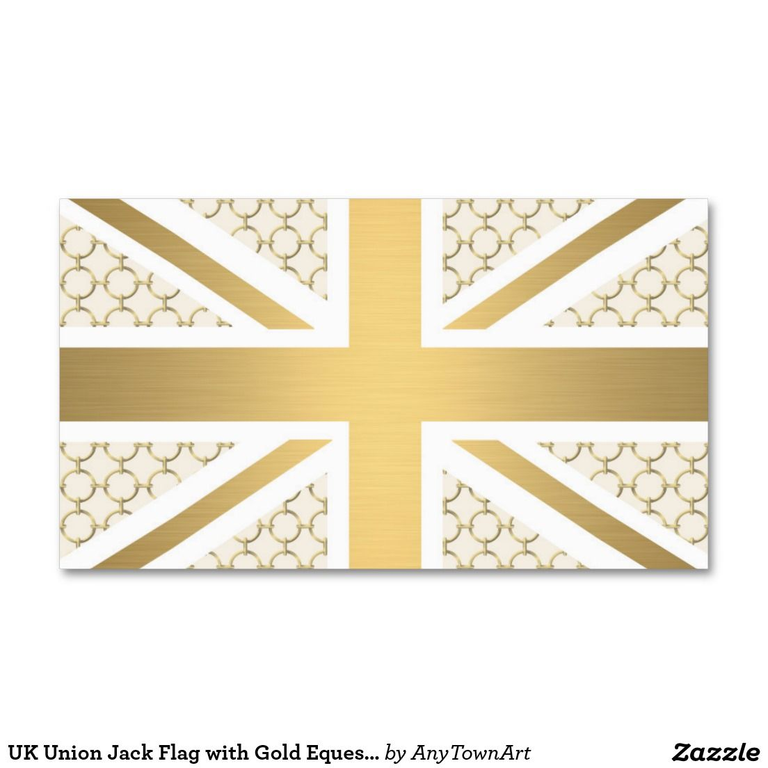 Pin by star california on my choice pinterest choices uk union jack flag with gold equestrian pattern business card reheart Gallery